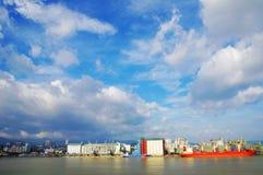 Portowy Fukuoka ranek Fotografia Stock