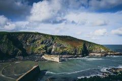 Portowy Isaac połowu schronienie w Północnym Cornwall, Anglia Obrazy Royalty Free