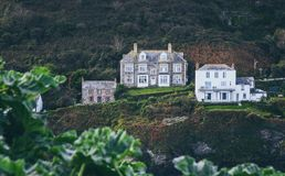 Portowy Isaac połowu schronienie w Północnym Cornwall, Anglia Zdjęcie Stock