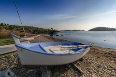 Portowy Lligat, mała Śródziemnomorska wioska obrazy stock