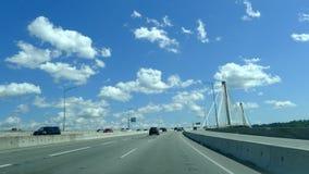Portowy Mann zawieszenia most, Kanada Zdjęcia Stock