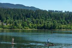 Portowy Markotny Kanada, Maj - 28, 2017, Skalisty punkt kiści park, żaglówki sprt aktywność Obrazy Royalty Free