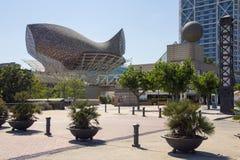 Portowy Olimpic, Barcelona, Hiszpania - Obraz Royalty Free
