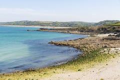 Portowy Racine jest małym portem Francja Cotentin penisula fotografia royalty free