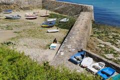 Portowy Racine jest małym portem Francja Cotentin penisula fotografia stock