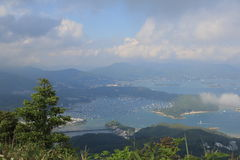 Portowy schronienie, sai kung, Hong kong Obraz Royalty Free