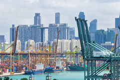 portowy Singapore Fotografia Stock