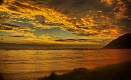 Portowy St John wschód słońca Zdjęcie Royalty Free