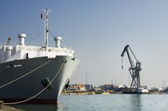 portowy statek Zdjęcie Stock