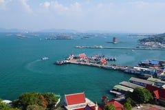 Portowy statku lsland Koh Sichang obraz stock