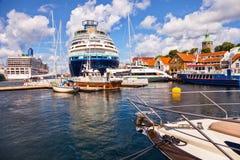 portowy Stavanger Obrazy Royalty Free