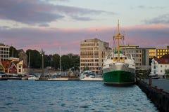 portowy Stavanger Zdjęcia Royalty Free