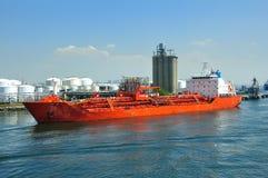 portowy substancja chemiczna tankowiec Obrazy Stock