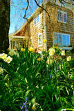 PORTOWY TOWNSEND, WA - KWIECIEŃ 12, 2014: Powierzchowność wiktoriański stylu dom Portowy Townsend, WA Obraz Stock
