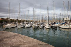 Portowy Vell Marina w Barcelona Fotografia Stock