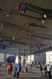 Portowy Vieux pawilon: Odzwierciedlający baldachim Obraz Royalty Free