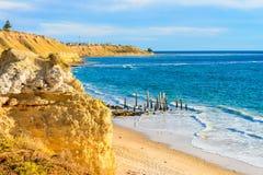 Portowy Willunga plaży widok, Adelaide Obrazy Stock