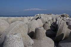 Portparaplyer på stranden Arkivbild