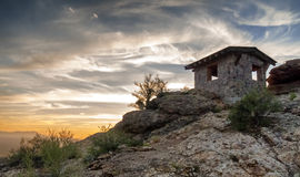 Portpasserande i Tucson, Arizona Arkivbild