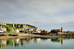 Portpatrick harbour lined with houses Stock Photo