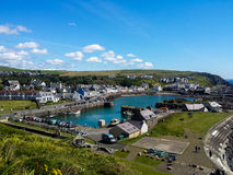 Portpatrick Harbour and Village Royalty Free Stock Images