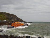 Portpatrick Lifeboat iść out na ratuneku Fotografia Royalty Free