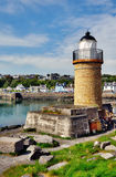 Portpatrick lighthouse and  harbour Stock Photos