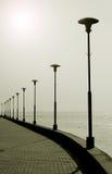Portpromenaden Jodkrante Neringa Litauen fotografering för bildbyråer