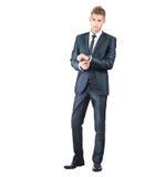 Porträt auf jungem gutaussehendem Mann Lizenzfreies Stockfoto