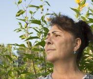 Porträt der älteren Frau. Stockfotos