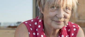 Porträt der älteren Frau. Lizenzfreies Stockbild