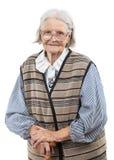 Porträt der älteren Frau die Kamera betrachtend lizenzfreies stockbild