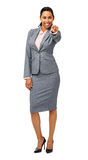 Porträt der überzeugten Geschäftsfrau Pointing At You Stockfoto