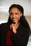 Porträt der Afroamerikaner-Geschäftsfrau lizenzfreie stockfotos