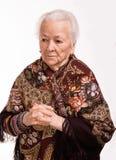 Porträt der alten Frau lizenzfreie stockfotos