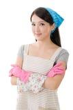Porträt der asiatischen Hausfrau Stockbild