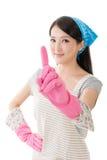 Porträt der asiatischen Hausfrau Stockfotografie