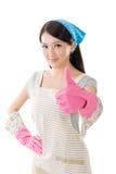 Porträt der asiatischen Hausfrau Lizenzfreies Stockfoto