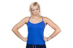 Porträt der athletischen Frau Lizenzfreies Stockbild