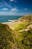 Porträt der atlantischen Küste im Frühjahr, Spanien Lizenzfreies Stockbild