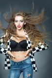 Porträt der attraktiven jungen Frau Lizenzfreies Stockbild