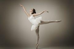 Porträt der Ballerina in der Balletthaltung lizenzfreie stockfotografie