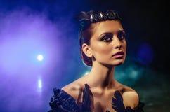 Porträt der Ballerina mit Diadem lizenzfreies stockbild