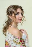 Porträt der Braut Hochzeitsmake-up Lizenzfreie Stockfotografie