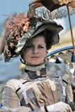 Porträt der eleganten Frau im historischen Kostüm Lizenzfreies Stockfoto