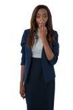 Porträt der entsetzten Geschäftsfrau Lizenzfreie Stockfotografie