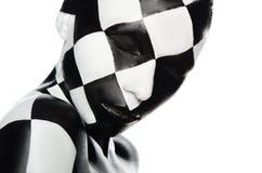 Porträt der Frau in einem Schachbrett Lizenzfreies Stockbild