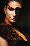Porträt der Frau mit Augenklappe Stockfoto