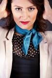 Porträt der Frau stellte in Mode in französische Art ein Lizenzfreies Stockfoto
