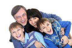 Porträt der frohen Familie lizenzfreies stockfoto